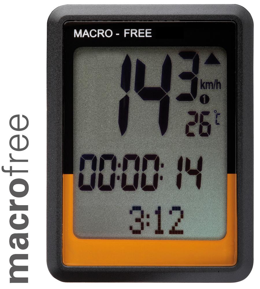 o-synce macro free cyklocomputer s bezdrátovým analogovým přenosem signálu